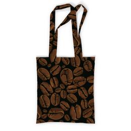 """Сумка с полной запечаткой """"Кофейная"""" - арт, стиль, рисунок, кофе, зерно"""