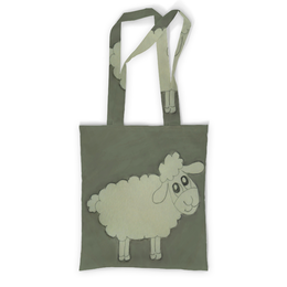 """Сумка с полной запечаткой """"Сумка Овечка"""" - прикольная, веселая, овечка, озорная"""