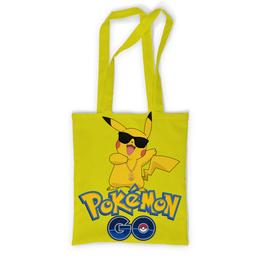 """Сумка с полной запечаткой """"Pokemon GO"""" - игра, покемон, пикачу, доллар, pikachu"""