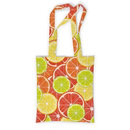 """Сумка с полной запечаткой """"Цитрусы"""" - апельсин, лайм, лимон, грейпфрут, долька"""