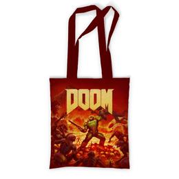 """Сумка с полной запечаткой """"Doom """" - игры, doom, дум, геймерские, для геймеров"""