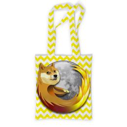 "Сумка с полной запечаткой ""Doge Firefox"" - dog, doge, mozilla firefox"