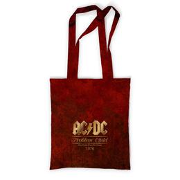 "Сумка с полной запечаткой ""AC/DC"" - music, rock, золото, хард-рок, асдс"
