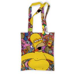 """Сумка с полной запечаткой """"Гомер Симпсон"""" - simpsons, симпсоны, гомер симпсон, homer simpson"""