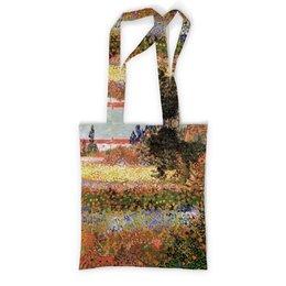 """Сумка с полной запечаткой """"Цветущий сад (Винсент Ван Гог)"""" - картина, пейзаж, ван гог, живопись, постимпрессионизм"""