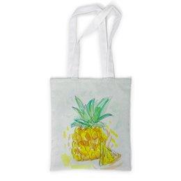 """Сумка с полной запечаткой """"Ананас"""" - лето, вкусно, сочный, фрукт, ананас"""