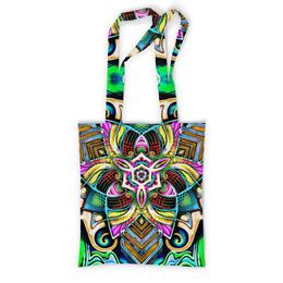 "Сумка с полной запечаткой ""Mandala HD 4"" - узор, ретро, классика, этно, симметрия"