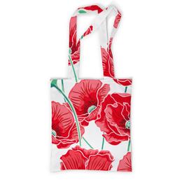 """Сумка с полной запечаткой """"Красные маки"""" - цветы, ярко, природа, маки, красивые цветы"""