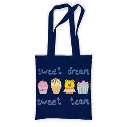 """Сумка с полной запечаткой """"Sweet dream - sweet team"""" - смешные, забавные, пирожные, funny cakes"""