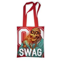 """Сумка с полной запечаткой """"Swag гангстер"""" - рэп, тренд, swag, с черепами, рэперские"""