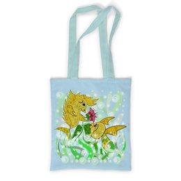 """Сумка с полной запечаткой """"Влюбленные рыбки"""" - любовь, цветок, подарок, золотая рыбка, рыбка-конек"""