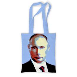 """Сумка с полной запечаткой """"В отпуск с Путиным"""" - россия, путин, президент, putin, кремль"""