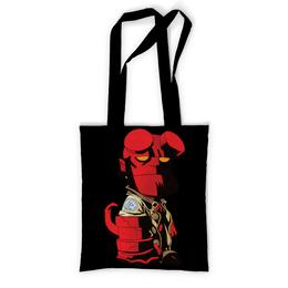 """Сумка с полной запечаткой """"Hellboy / Хеллбой"""" - мультфильм, комиксы, фильм, hellboy, хеллбой"""