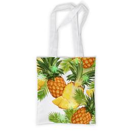 """Сумка с полной запечаткой """"Ананасы"""" - фрукты, рисунок, тропики, ананасы"""