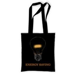 """Сумка с полной запечаткой """"Энергосберегающий"""" - энергия, лампочка, электричество, энергосберегающий, сбережение"""