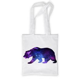 """Сумка с полной запечаткой """"Space animals"""" - space, bear, медведь, космос, астрономия"""