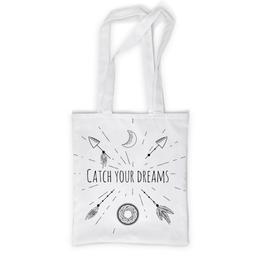 """Сумка с полной запечаткой """"catch your dreams"""" - арт, ловец снов, индейский символ, стиль бохо"""