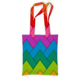 """Сумка с полной запечаткой """"Papercraft style"""" - полосы, абстракция, геометрия, линии, papercraft"""