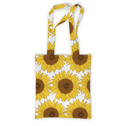 "Сумка с полной запечаткой ""Sunflower"" - flower, sun, yellow, pattern, sunflower"