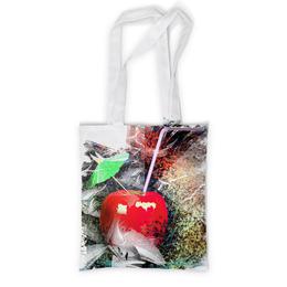 """Сумка с полной запечаткой """"Яблочный микс"""" - напиток, абстракция, яблоко, фрукт, натюрморт"""