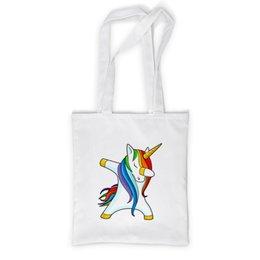 """Сумка с полной запечаткой """"Dab Unicorn """" - животные, unicorn, единорог, дэб, dab"""