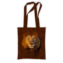 """Сумка с полной запечаткой """"Лев     """" - кошка, хищник, лев, зверь, животное"""