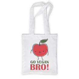 """Сумка с полной запечаткой """"Go Vegan Bro!"""" - природа, веган, vegan, go vegan, этика"""