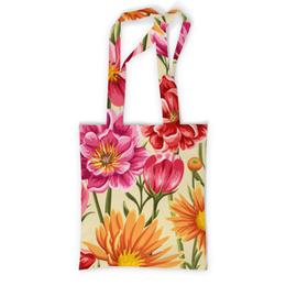 """Сумка с полной запечаткой """"Садовые цветы"""" - красиво, цветы, ярко, природа, садовые цветы"""