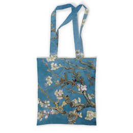 """Сумка с полной запечаткой """"Цветущие ветки миндаля. Ван Гог"""" - цветы, картина, ван гог, ветка, миндаль"""