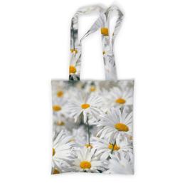 """Сумка с полной запечаткой """"Ромашки"""" - цветы, цветок, белый, ромашка, желтый"""