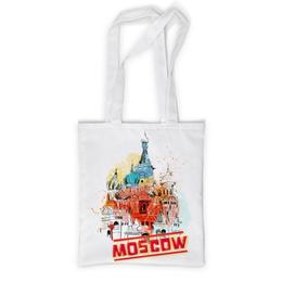 """Сумка с полной запечаткой """"Москва"""" - москва, россия, храм, красная площадь, василий блаженный"""