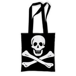"""Сумка с полной запечаткой """"""""Весёлый Роджер - Jolly Roger"""""""" - череп, пираты, jolly roger, пиратский флаг, весёлый роджер"""