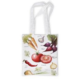 """Сумка с полной запечаткой """"Свежие овощи"""" - еда, томат, кухня, овощи, перчик"""