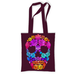 """Сумка с полной запечаткой """"Skull Art"""" - skull, череп, цветы, черепа, skulls"""