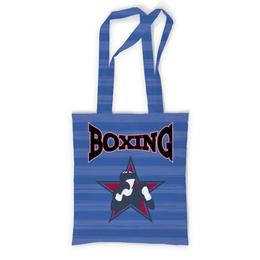 """Сумка с полной запечаткой """"Боксер"""" - звезда, бокс, надпись, полоска, боксер"""