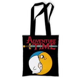 """Сумка с полной запечаткой """"Adventure Time / Время Приключений"""" - adventure time, время приключений, джейк, финн"""