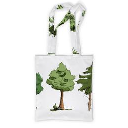 """Сумка с полной запечаткой """"Сказочный лес"""" - рисунок, деревья, природа, иллюстрация, скетч"""