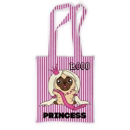 """Сумка с полной запечаткой """"Принцесса Мопс"""" - щенок, собака, принцесса, мопс"""
