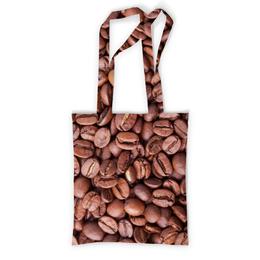"""Сумка с полной запечаткой """"Зерна кофе"""" - утро, напиток, кофе, зерна, крепкий"""