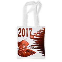 """Сумка с полной запечаткой """"Новогодний сюрприз"""" - новый год, подарок, сюрприз, новогодний, 2017"""