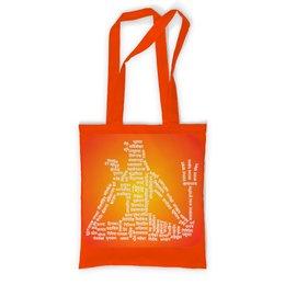 """Сумка с полной запечаткой """"Образ Бога Шивы и его имена (2 сторонний)"""" - подарок, слова, индуизм, санскрит, шива"""
