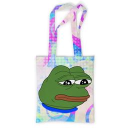 "Сумка с полной запечаткой ""Pepe Frog"" - мем, meme, грустная лягушка, sad frog, pepe frog"