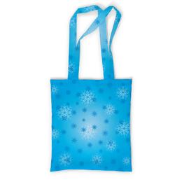 """Сумка с полной запечаткой """"Снежинка"""" - праздник, новый год, зима, снег, снежинка"""