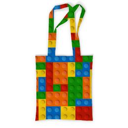 """Сумка с полной запечаткой """"Конструктор Лего"""" - игрушка, конструктор, детский рисунок, лего"""