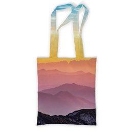 """Сумка с полной запечаткой """"Без названия"""" - небо, природа, закат, горы, пейзаж"""