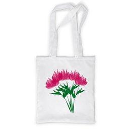 """Сумка с полной запечаткой """"розовые абстрактные цветы"""" - праздник, цветы, розовый, подарок, букет"""