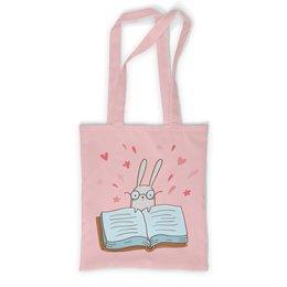 """Сумка с полной запечаткой """"Умный кролик в очках"""" - заяц, сказка, книжка, кролик, умный"""