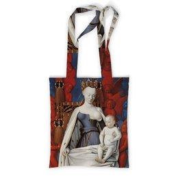 """Сумка с полной запечаткой """"Дева Мария (Маленский диптих)"""" - картина, живопись, христианство, фуке"""