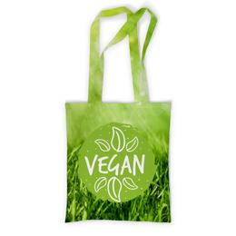 """Сумка с полной запечаткой """"Go Vegan!"""" - природа, веган, go vegan, этика"""