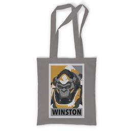 """Сумка с полной запечаткой """"Уинстон"""" - overwatch, овервотч, winston, уинстон"""